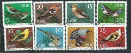 DDR  1973  Mi 1834 - 1841  Geschützte Singvögel  Gestempelt