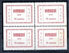 España Guerra Civil Viñeta VIMBODI   10c Rojo    Bloque De 4  GG 1474  * V164.4 - Viñetas De La Guerra Civil