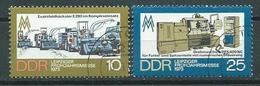DDR  1973  Mi 1832 - 1833  Leipziger Frühjahrsmesse  Gestempelt