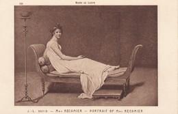 ARTS---TABLEAUX---musée Du Louvre--Mme RECAMIER----J.J. DAVID----voir 2 Scans - Pintura & Cuadros
