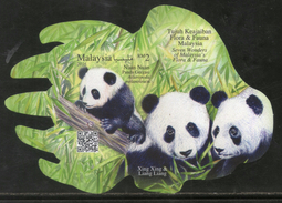 Malaysia 2016 Seven Wonders Flora Fauna Panda Odd Shaped Imperf M/s MNH # 12639