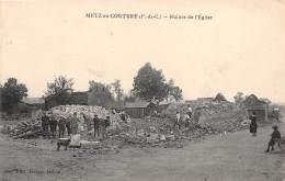 62 - PAS DE CALAIS / Metz En Couture - Ruines De L'église - Beau Cliché Animé - France