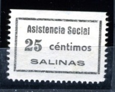 España Guerra Civil Viñeta SALINAS ASISTENCIA SOCIAL 25c   RR   GG 1188  *  * V165.3 - Vignettes De La Guerre Civile