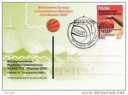 POLAND 2009 EUROBASKET POSTMARK 07.09.2009