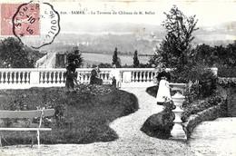 Samer. La Terrasse Du Chateau De Monsieur Bellet. - Samer