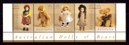 Australia 1997 Bears & Dolls Strip Of 5 MNH -