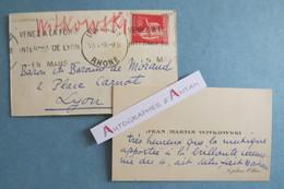 CVA 1933 Jean Martin WITKOWSKI Chef D'orchestre > Famille De MORAND Lyon - Flamme Postale Foire Cdv Autographe Vouziers - Autogramme & Autographen