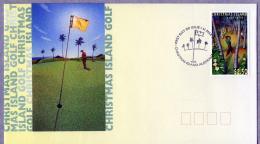 Christmas Island 1995 Golf FDC