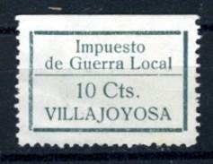 España Guerra Civil Viñeta VILLAJOYOSA Impuesto De Guerra Local  10 Cts No Catalogado En  GG  (*)  V168.2 - Vignettes De La Guerre Civile