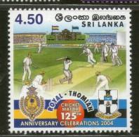 Sri Lanka 2004 Cricket Match Royal Vs Thomas College Sport 1v MNH # 2644