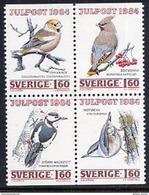 SWEDEN 1984 Christmas: Birds MNH / **.  Michel 1307-10