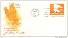 USA  -  Intero Postale  -  Stationery   -  Air Mail   A         Emercency Change Of Rate