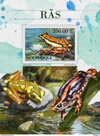 MOZAMBIQUE 2016 - Frogs S/S. Official Issue