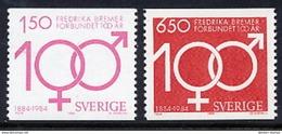 SWEDEN 1984 Frederika Bremer Centenary MNH / **.  Michel 1298-99