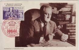 MONACO CARTE MAXIMUM Roosevelt  1947 - Cartas Máxima