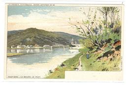 HASTIÈRE - La Meuse - Le Pont - Ed. Lith. J. L. Goffart, Bruxelles - Coll. La Belgique Pittoresque