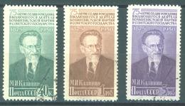 URSS - 1950 USED/OBLIT. - KALININE - Mi 1515a-1517a Yv 1498-1500 -  Lot 15220