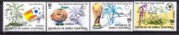 Equatorial Guinea - Guinée Équatoriale 1982 Edifil 35- 38, FIFA World Cup Spain '82 - MNH - Äquatorial-Guinea