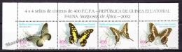 Equatorial Guinea - Guinée Équatoriale 2003 Edifil 296- 299, Fauna, Africa Butterflies - MNH - Guinea Ecuatorial