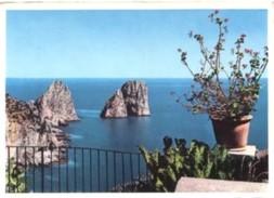 Napoli - Lotto 3 Fotografie, CAPRI: I FARAGLIONI, MARINA PICCOLA - ANACAPRI: VILLA SAN MICHELE - PERFETTA N37 - Riproduzioni