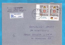 2002  230-   BOSNIA HERZEGOVINA REPUBLIKA SRPSKA  STEMMA WAPPEN  BRIEF  INTERESSANT