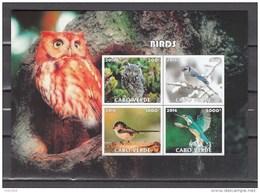 Cabo Verde 2016,4V In Block,IMP,birds,uilen,vogels,vögel,oiseaux,pajaros,uccelli,aves,MNH/Postfris(L3000) - Hiboux & Chouettes