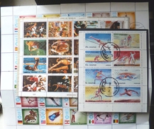Lot 3x Bloc Feuille Timbre Oblitere Timbres Obliteres Asie Fujeira Umm Al Qiwain Dhufar J.O. Jeux Olympiques Munich 1972