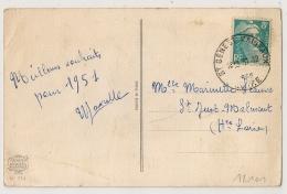 Horoplan ST GENEST MALIFAUX  Loire Sur 8f GANDON. - Poststempel (Briefe)