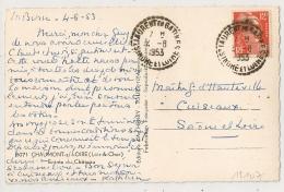 ST LAURENT EN GATINES Indre Et Loire Sur 12f GANDON. - Poststempel (Briefe)