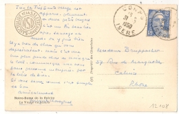 CORPS Isère Sur 12f GANDON. - Poststempel (Briefe)