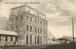 Pays Div- Ref H234- Chili -chile  -  Teatro Municipal - Punta Arenas - Magallanes - Carte Bon Etat - - Chili