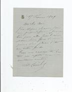 AUGUSTINE LERICHE (PARIS 1860 1938) COMEDIENNE FRANCAISE ACTRICE DE THEATRE FILLE DE LOUIS LERICHE LETTRE A SIGNATURE 19 - Autographes
