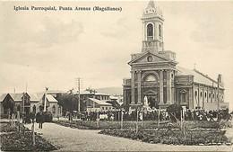 Pays Div- Ref H233-chili - Chile  - Iglesia Parroquial  - Punta Arenas - Magallanes - Carte Bon Etat - - Chili