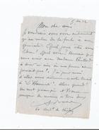 ARMAND BOUR (LILLE 1868 PARIS 1945) COMEDIEN FRANCAIS FORME AU THEATRE LIBRE D'ANDRE ANTOINE LETTRE A SIGNATURE 1922 - Autographes