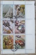 Bloc 6 X Timbre Timbres Obliteres 1972 Sharjah Sport Vitesse Voilier Velo Cyclisme Avion Moto Hippisme Voiture F1 - Sharjah
