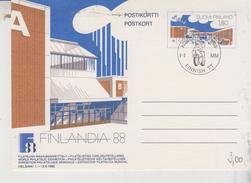 Finland Postal Stationary  Kouvola 1988 F-1 MM Finnish TT Motorcycle
