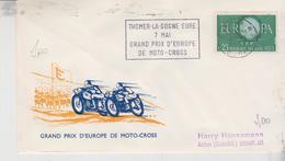 Motorcycle Moto Cross Motocross Thomer La Sogne Eure 7 Mai Grand Prix D'europe Targhetta Sport