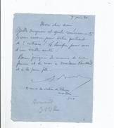 ARMAND BOUR (LILLE 1868 PARIS 1945) COMEDIEN FRANCAIS FORME AU THEATRE LIBRE D'ANDRE ANTOINE LETTRE A SIGNATURE 1931 - Autographes
