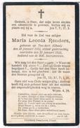 Dp. Renders Maria.° Ten-Aert (Gheel) 1902 † Ten-Aert (Gheel) 1923