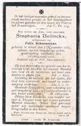 Dp. Bellinckx Stephania. Echtg. Schoonejans Felix.° Gheel 1854 1902 † Gheel 1926