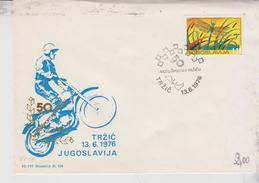 Motorcycle Moto Cross Motocross Trzic 13/6/1976 Jugoslavija Slovenija  Targhetta Sport