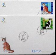 Faroe Islands  2011 CATS    MiNr.715-16   FDC       ( Lot  Kas)) - Färöer Inseln