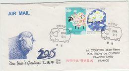 Corée Korea; 2014. Année De La Chèvre Ou Mouton