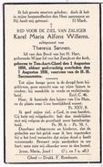 Dp. Willems Karel. Echtg. Sannen Theresia.° Ten-Aart-Gheel 1850 † Ten-Aart-Gheel 1936