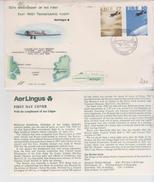 Ireland Eire 1978  FDC Aviation History, First East-West Transatlantic Flight, Aer Lingus  Airplane - FDC