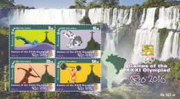 Sri Lanka 2016 Rio Olympic Games SS Mint 1v Waterfall - Sri Lanka (Ceylon) (1948-...)