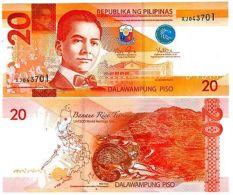 Philippines Billet 20 PISO 2014 P206 NOUVEAU LQUEZON / Civette Palmiste NEUF UNC - Banknotes