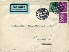 18620 Finland,  Cover Circuled 1935 From Helsinki To Germany