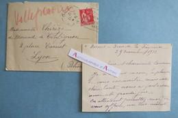 CVAS 1932 P. Lenoir De VILLEPERDRIX > Famille De MORAND à Lyon - NIMES - Carte Lettre Autographe Noblesse Aristocratie - Autographes