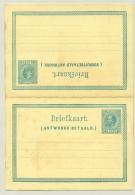 Nederland - 1877 - 5+5 Cent Briefkaart Willem III, Boven Samenhangend, G13 - Met Bemerkingen